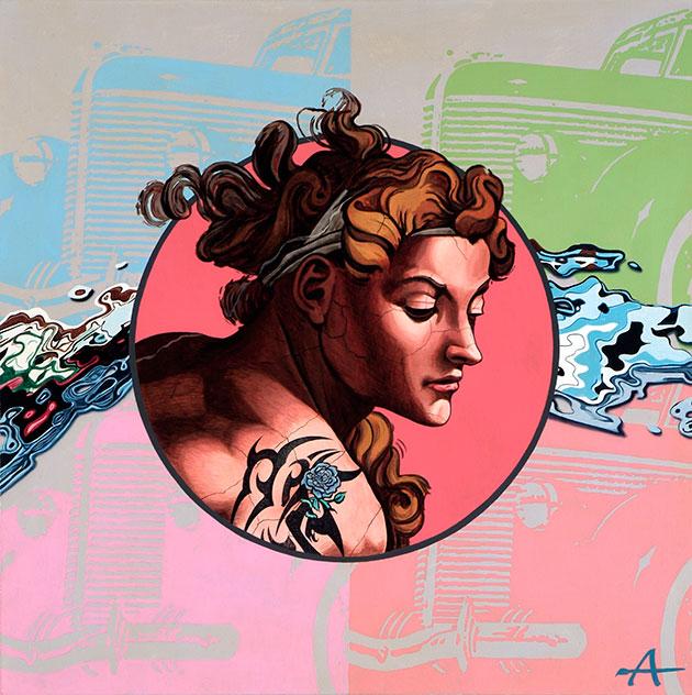 Faun | Alkyd on canvas, 100 x 100 cm