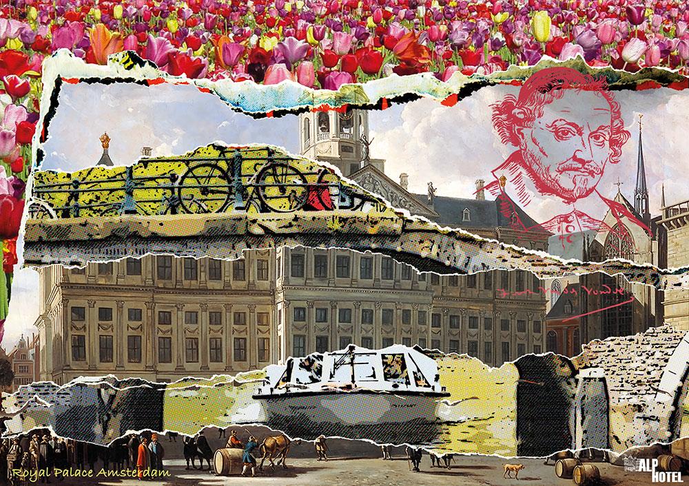 Alp hotel 2 |  Digital Art Print 120 x 170 cm