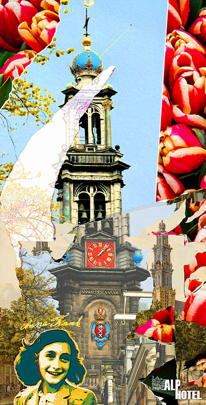 Alp hotel 3 | Digital Art Print 108 x 56 cm