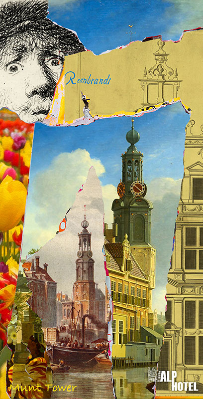 Alp hotel 4 | Digital Art Print 108 x 56 cm