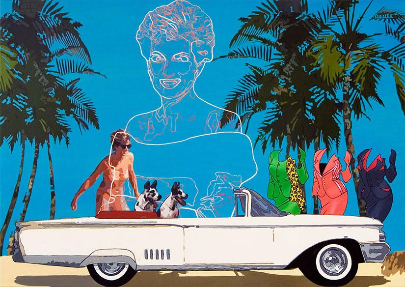 Di rides again | Alkyd on canvas, 200 x 140 cm