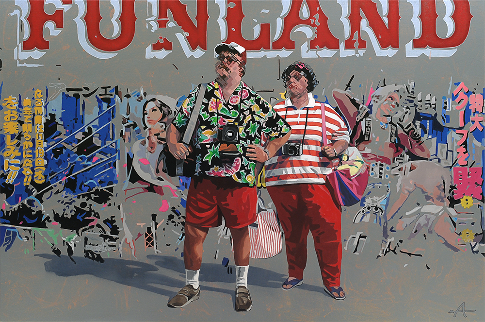 Funland | Alkyd on canvas, 160 x 100 cm
