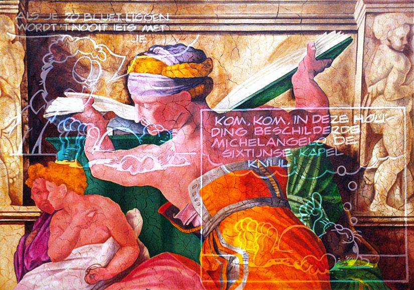 Italian Graffiti | Alkyd on canvas
