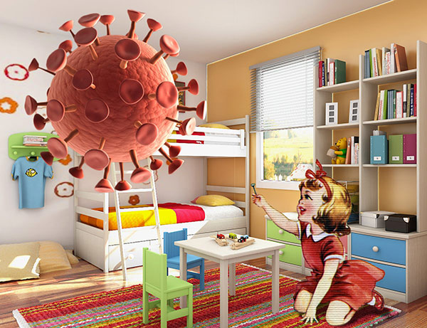modern cheerful children room