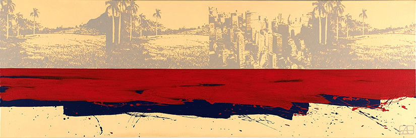 Paradise Lost | Alkyd on canvas, 180 x 60 cm