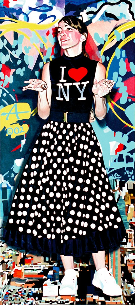Skin deep (All American Girl) | Alkyd on canvas, 200 x 80 cm